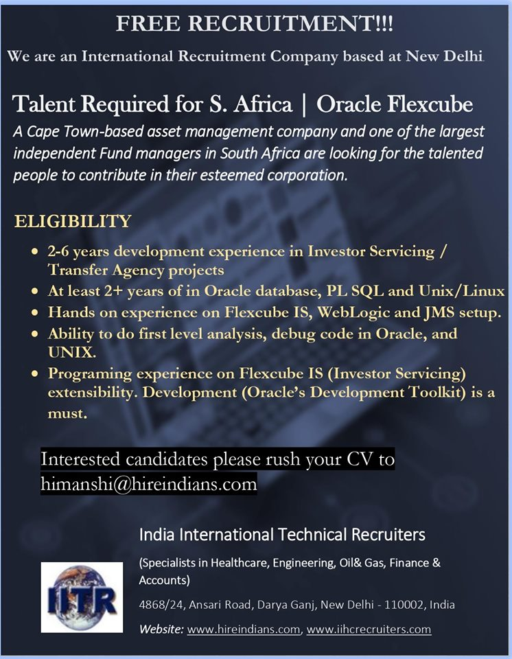 Hiring Oracle Professionals for a leading Company in Saudi Arabia